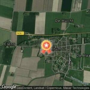 Afstand Halve marathon Lauwersoog-Ulrum 2018 route