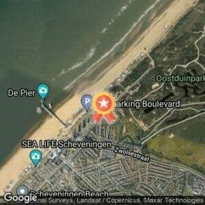 Afstand KLM Curacao Scheveningen Beach Run 2020 route
