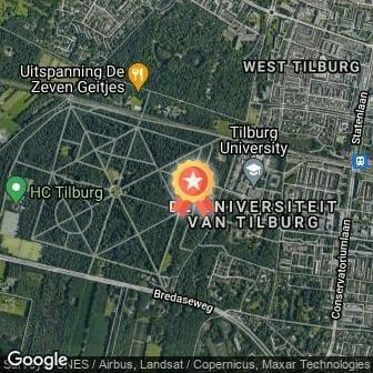 Afstand Warandeloop Tilburg zaterdag 2021 route