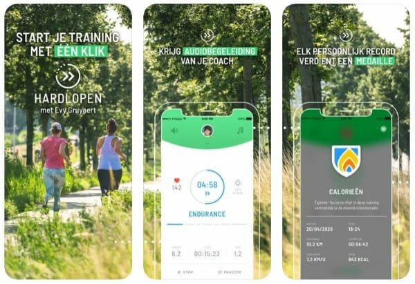 download hardlopen met Evi app
