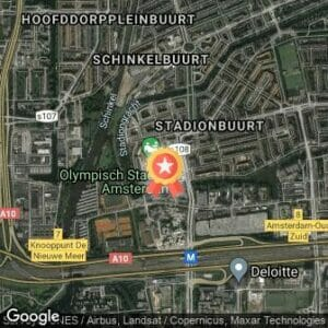 Afstand Trainingsloop TCS Amsterdam Marathon (20km) 2019 route