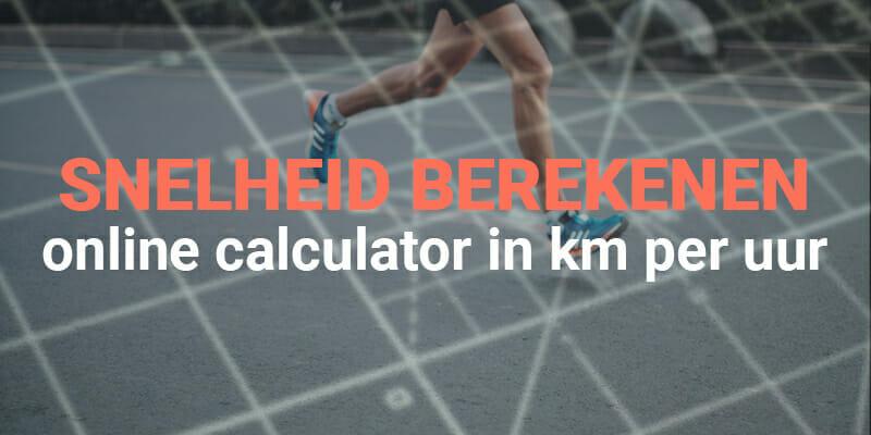 gemiddelde snelheid berekenen