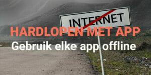 offline hardloop app zonder internet 4g